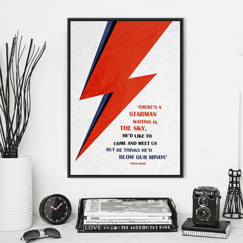 David Bowie Rebel Rebel music song lyrics Word Art Print Ziggy Life Mars Heroes