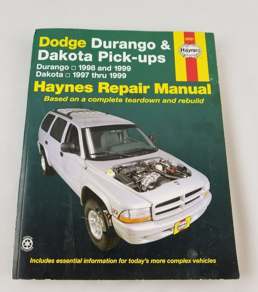 Durango 1998 & 1999 & Dodge Dakota 1997 to 1999 Haynes Repair Manual 30021