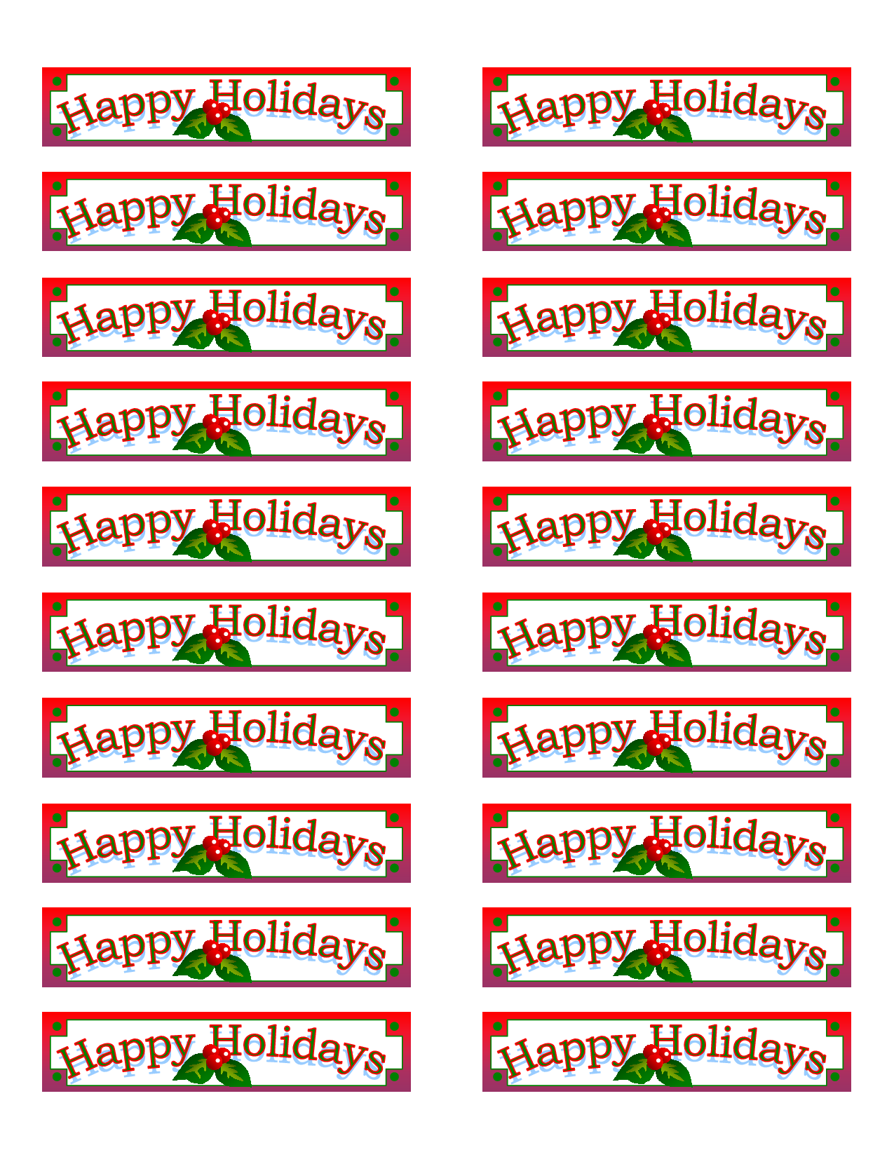 Avery 5160 Christmas Labels Templates Free Christmas Labels Template Christmas Address Labels Christmas Return Address Labels