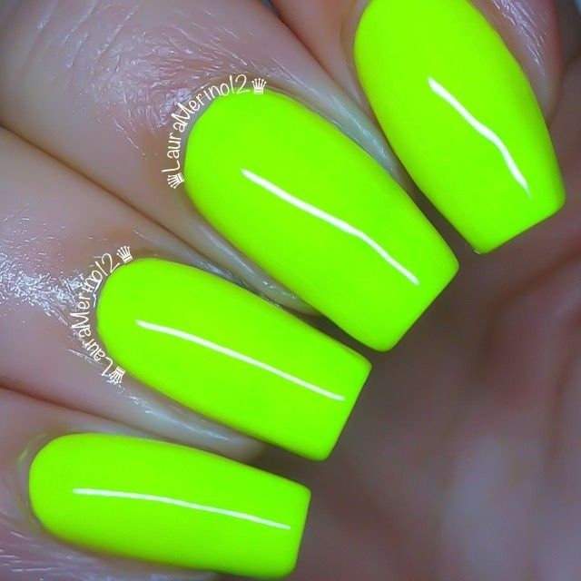 orly glowstick ....nail by lauramerino12 #nail #nails #nailpolish ...