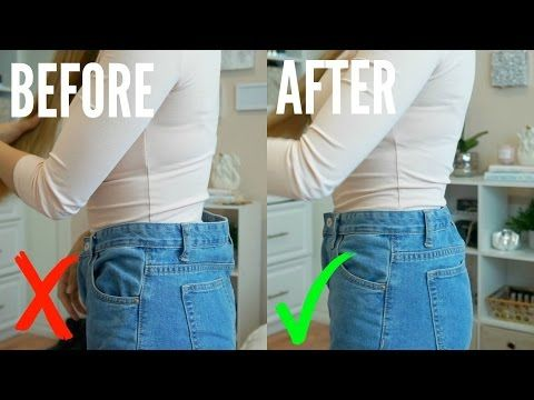 How To Easily Downsize Waist Of Jeans No Sewing Youtube Sewing Jeans Jeans Tutorial Sewing Pants