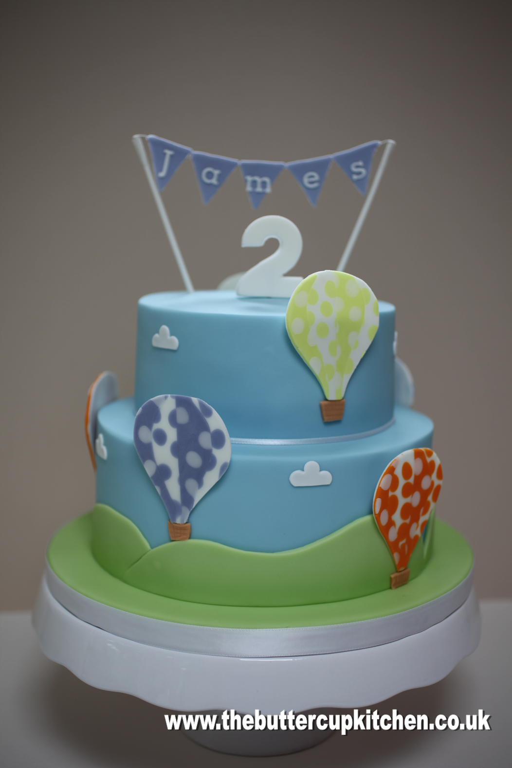 Hot Air Balloon Birthday Cake For A Two Year Old Boy By Www Thebuttercupkitchen Co Uk Balloon Birthday Cakes 2 Year Old Birthday Cake Boy Birthday Cake