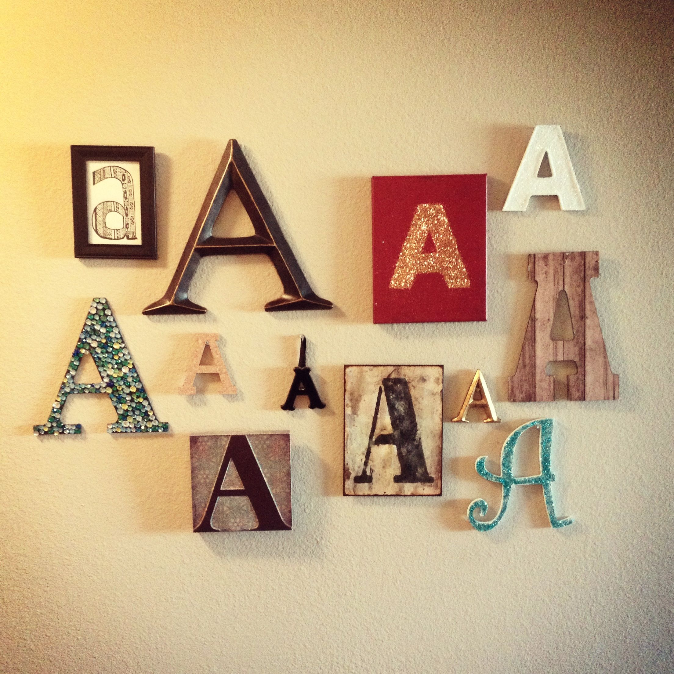 A wall decoration DIY. Letter wall | Home - GALLERY WALL | Pinterest ...