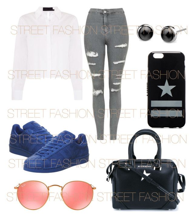 """Glam"" by fashionstreetz ❤ liked on Polyvore featuring Topshop, adidas, Givenchy, Ray-Ban and roadtrip"