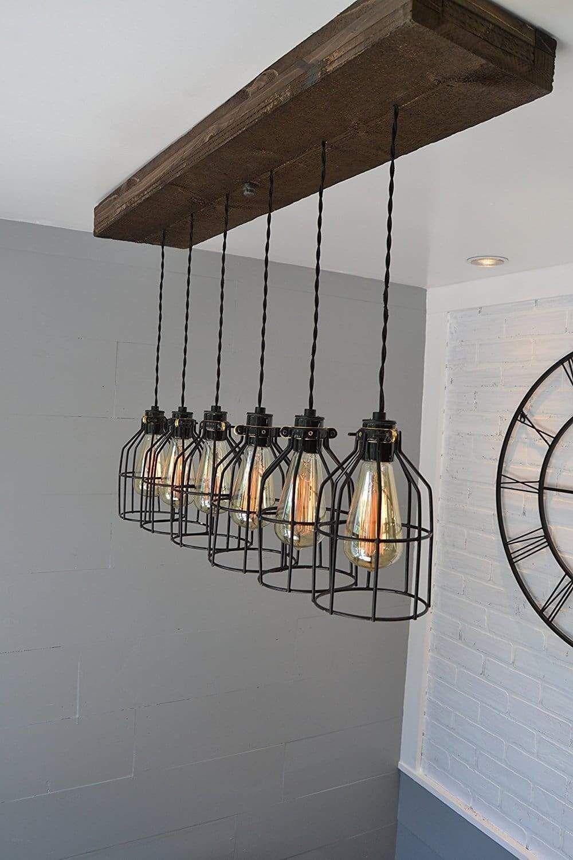 Farmhouse Rustic Kitchen Island Lighting Ideas In 2020 Rustic