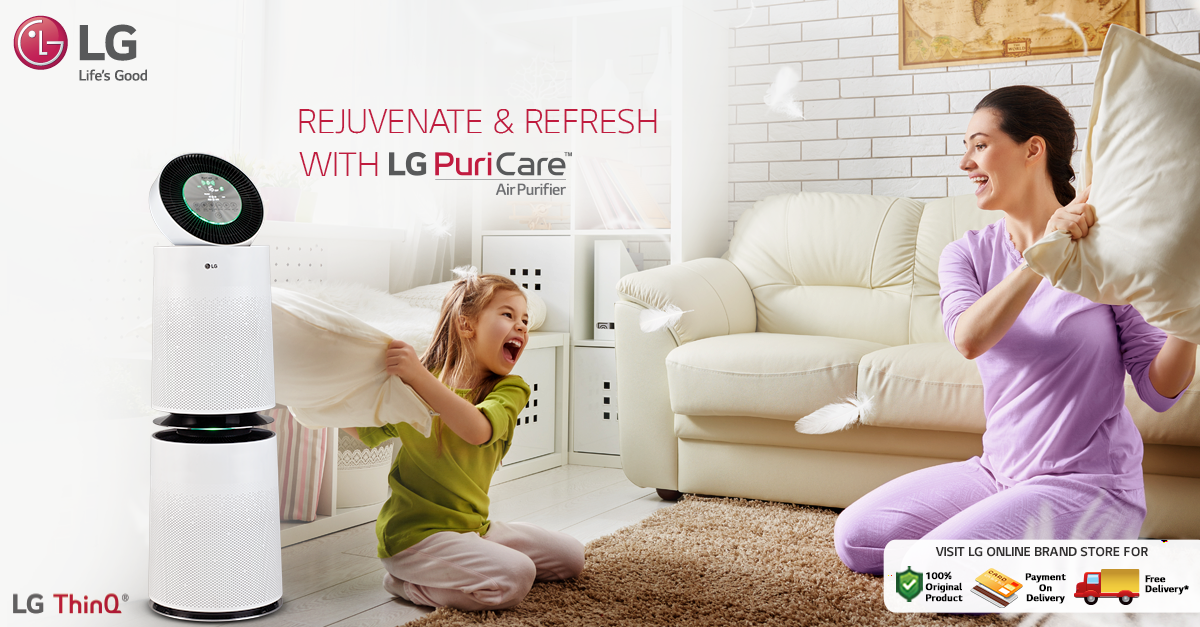 Redefine the way you breathe with new LGPuriCare