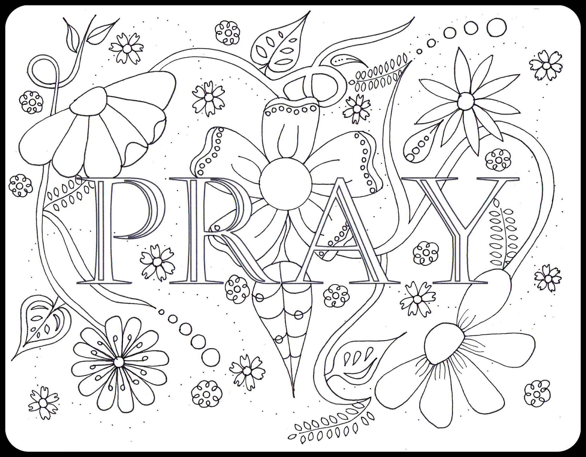 The coloring book project 2nd edition - Pray Coloring Page