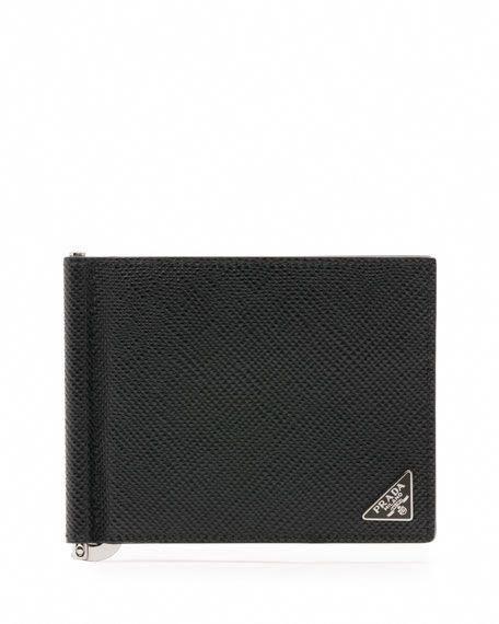 72fbb885bf87 PRADA Saffiano Leather Money-Clip Wallet, Navy/Lt. Blue. #prada #  #pradahandbagsblue #pradasaffianowallet