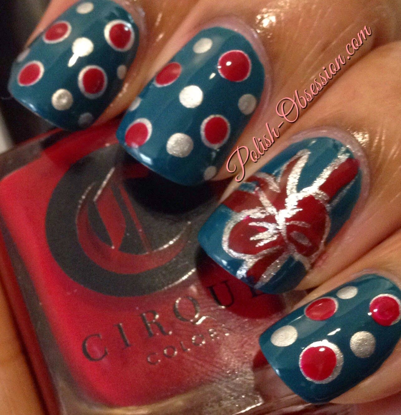 Christmas #nailart with @cirquecolors The Devil Wears Cirque and ...