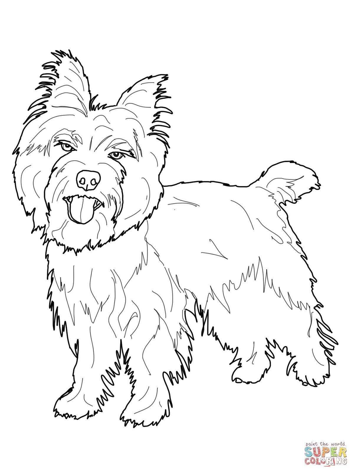 Dog Coloring Pages Super Coloring