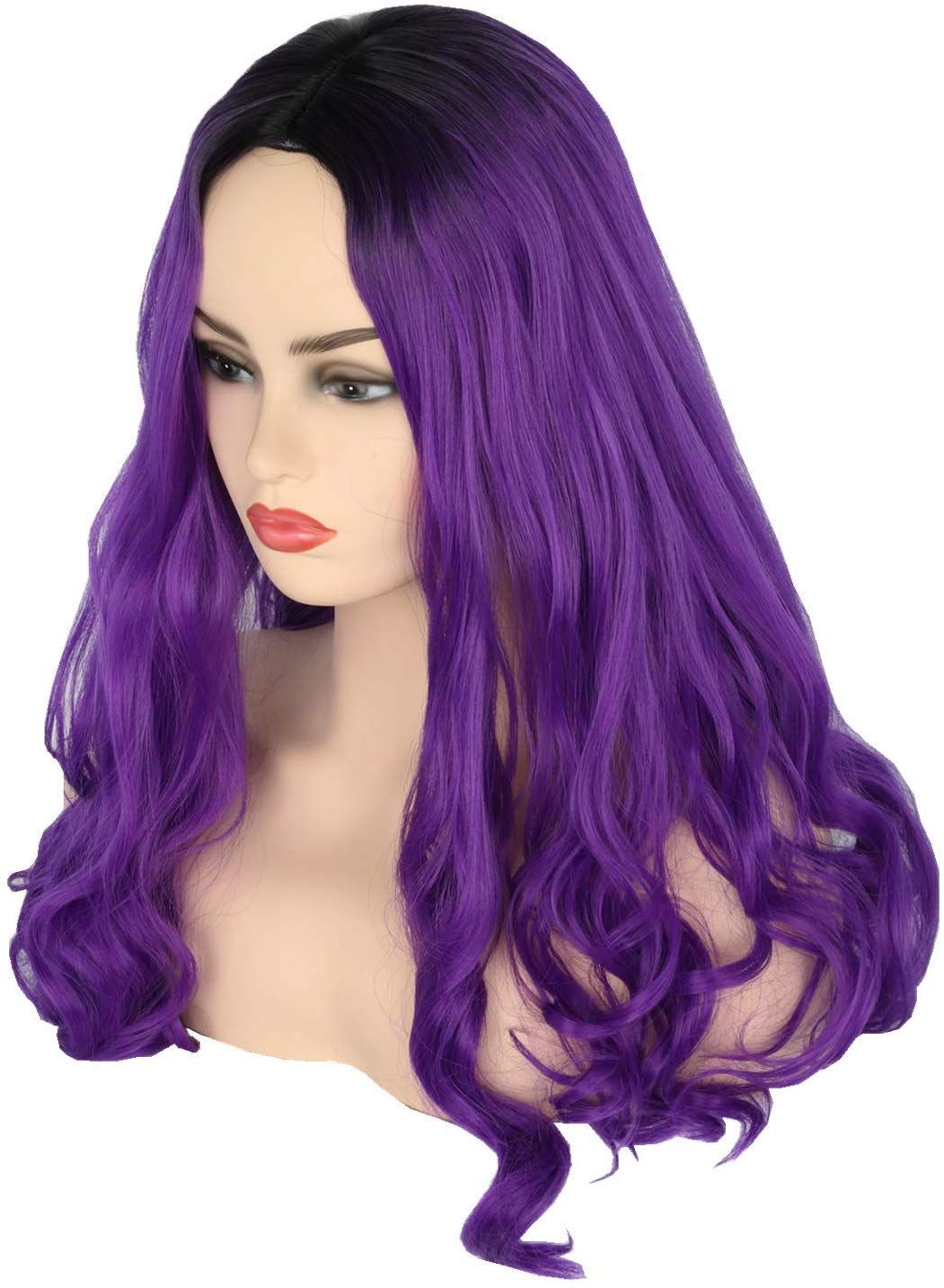 Topcosplay Mal Wig Inspired By Descendants 3 Kids Girls Purple Wig 15 Long Curly Costume Wig For Party Halloween Fancy Dress Hair Stail Wigs Hair Dye Colors