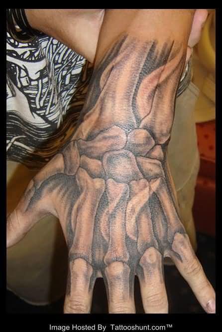 3d Skeleton Hand Tattoo Tattooshunt Com Hand Tattoos For Guys