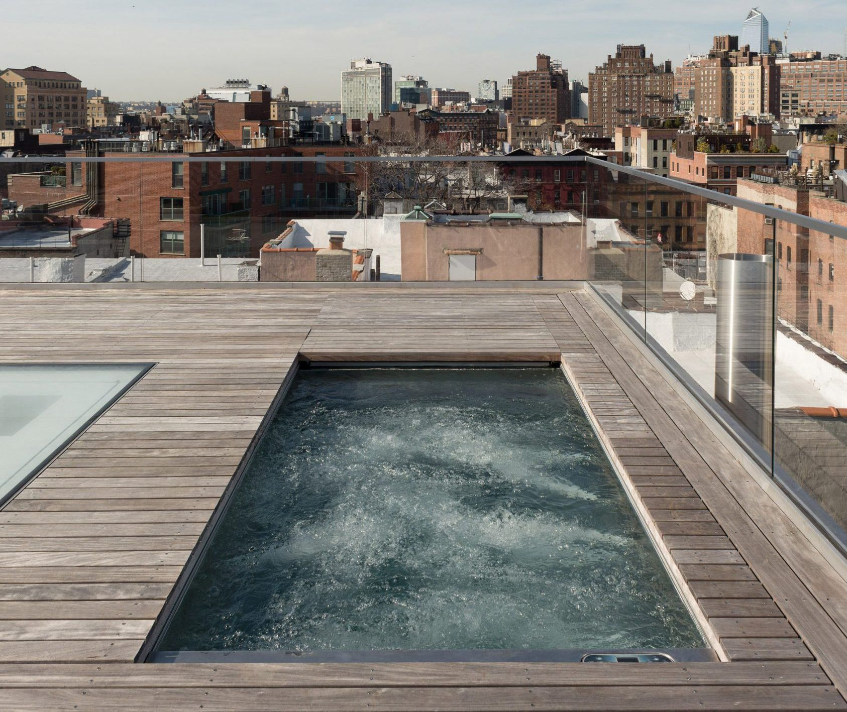 Tbd Design Studio Gave This West Village Penthouse A Complete Overhaul And A Private Rooftop Pool 6sqft Hotel Pool Design Rooftop Pool Rooftop Design