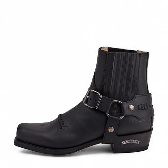 Sendra Boots Biker Boot Black Leather