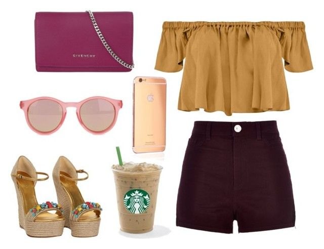 """Untitled #36"" by mimikkoleva ❤ liked on Polyvore featuring Boohoo, River Island, Goldgenie, Givenchy, Gucci and Le Specs"
