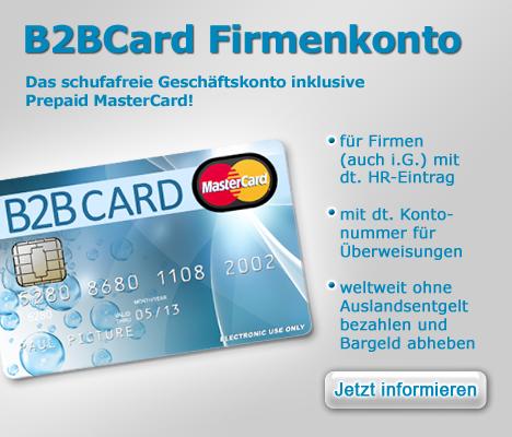 Bbcard Spesenkarten Firmenkreditkarten Auf Guthabenbasis Dank Sofortaufladekonto Minutenschnell Aufladbar Online Kredit Finanz