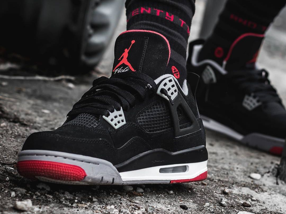 34db272f55bdc0 Nike Air Jordan 4  Bred  (by skinner32) Sole Trees for sneakers are a  perfect match  ShoeTrees  shoeTree  soletrees