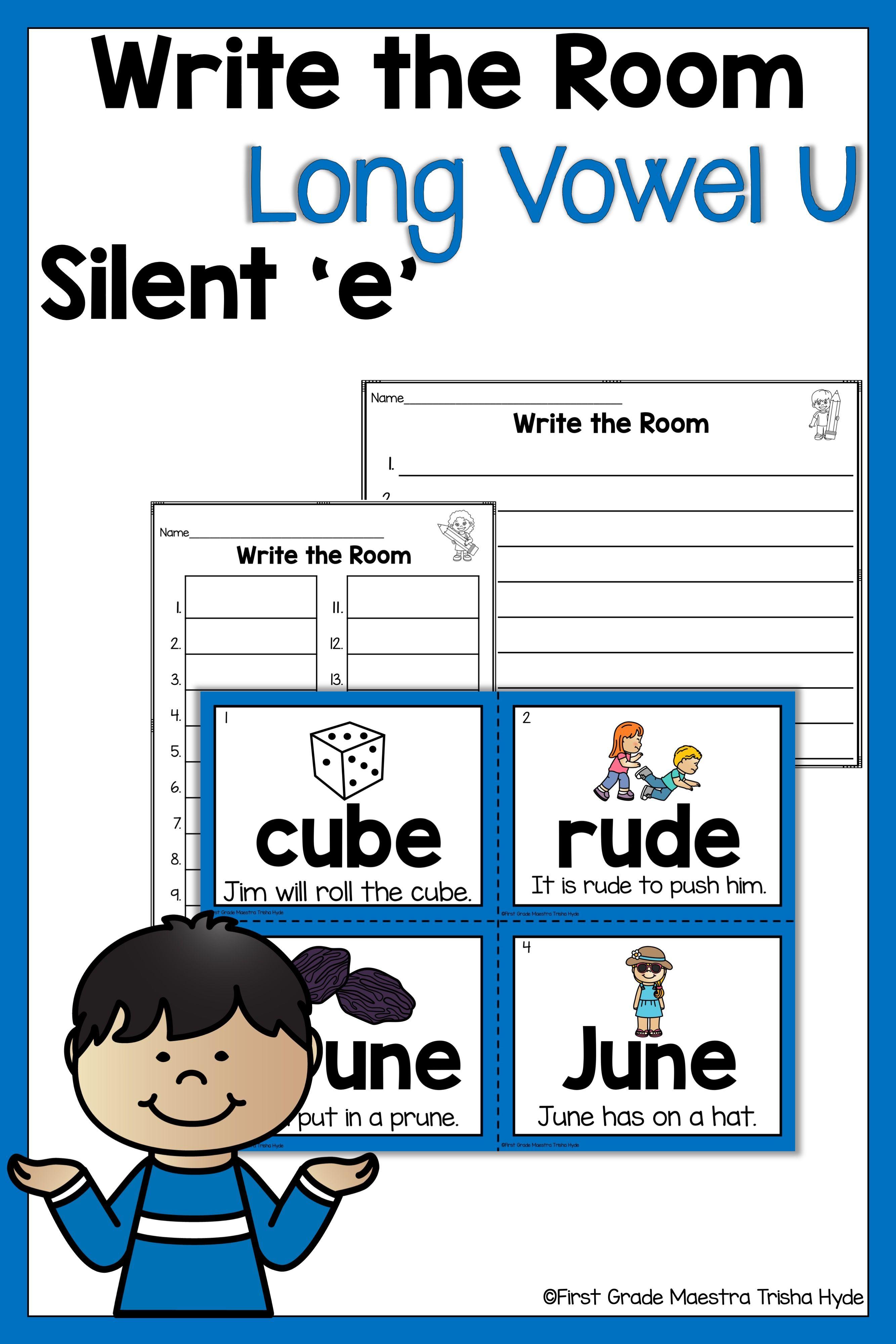 Write The Room Long Vowel U Silent E