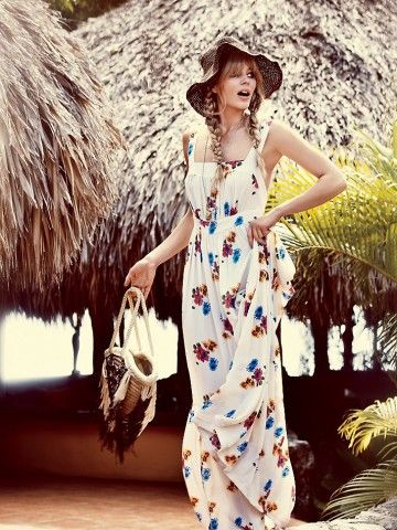 Free People Joie Rose Print Maxi