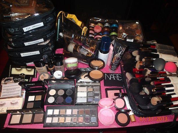 Celebrity makeup artist opens up her travel kit