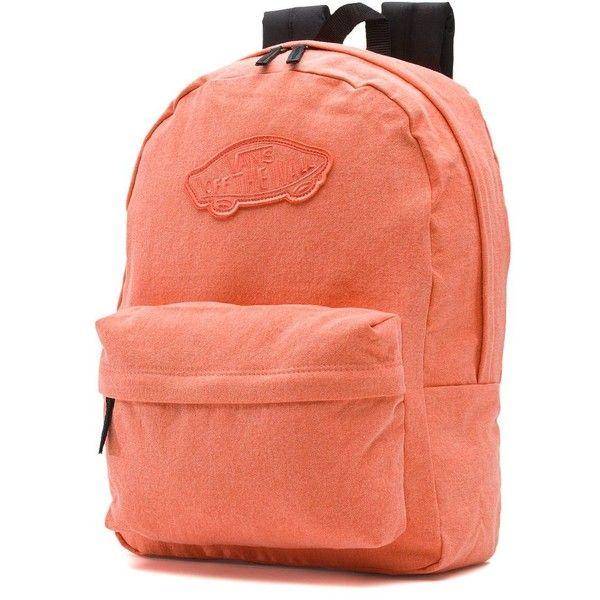 vans rucksack orange
