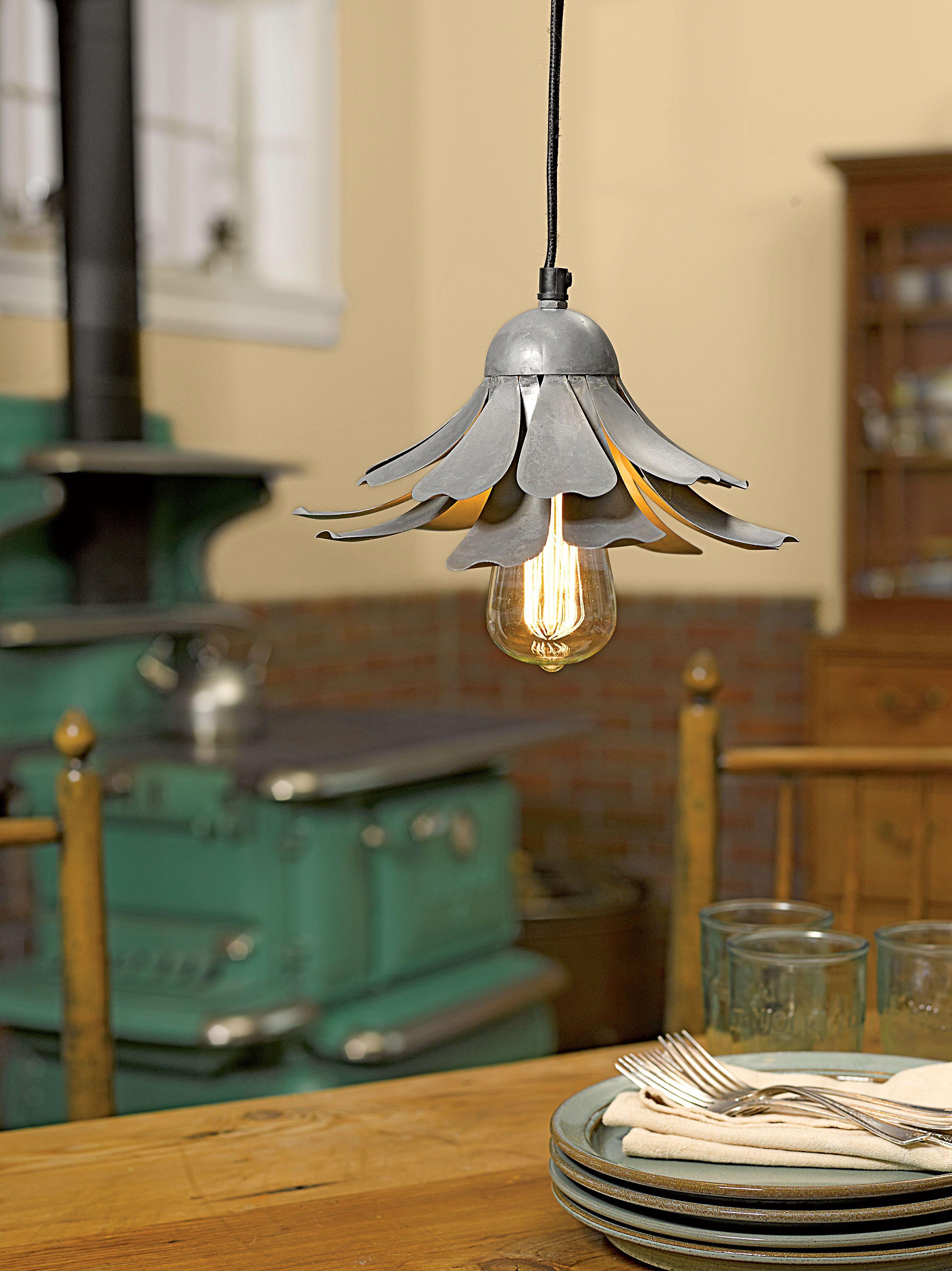 Rustic steel flower pendant light gardenerus supply home sweet