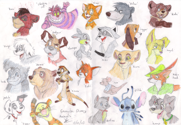 Disney animals by on