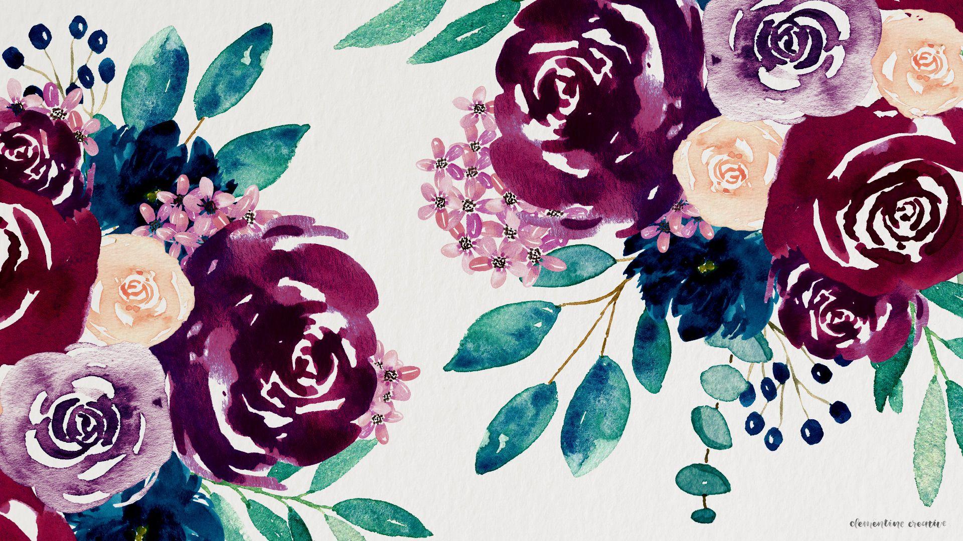 watercolourflowersdesktop.jpg 1,920×1,080 pixels