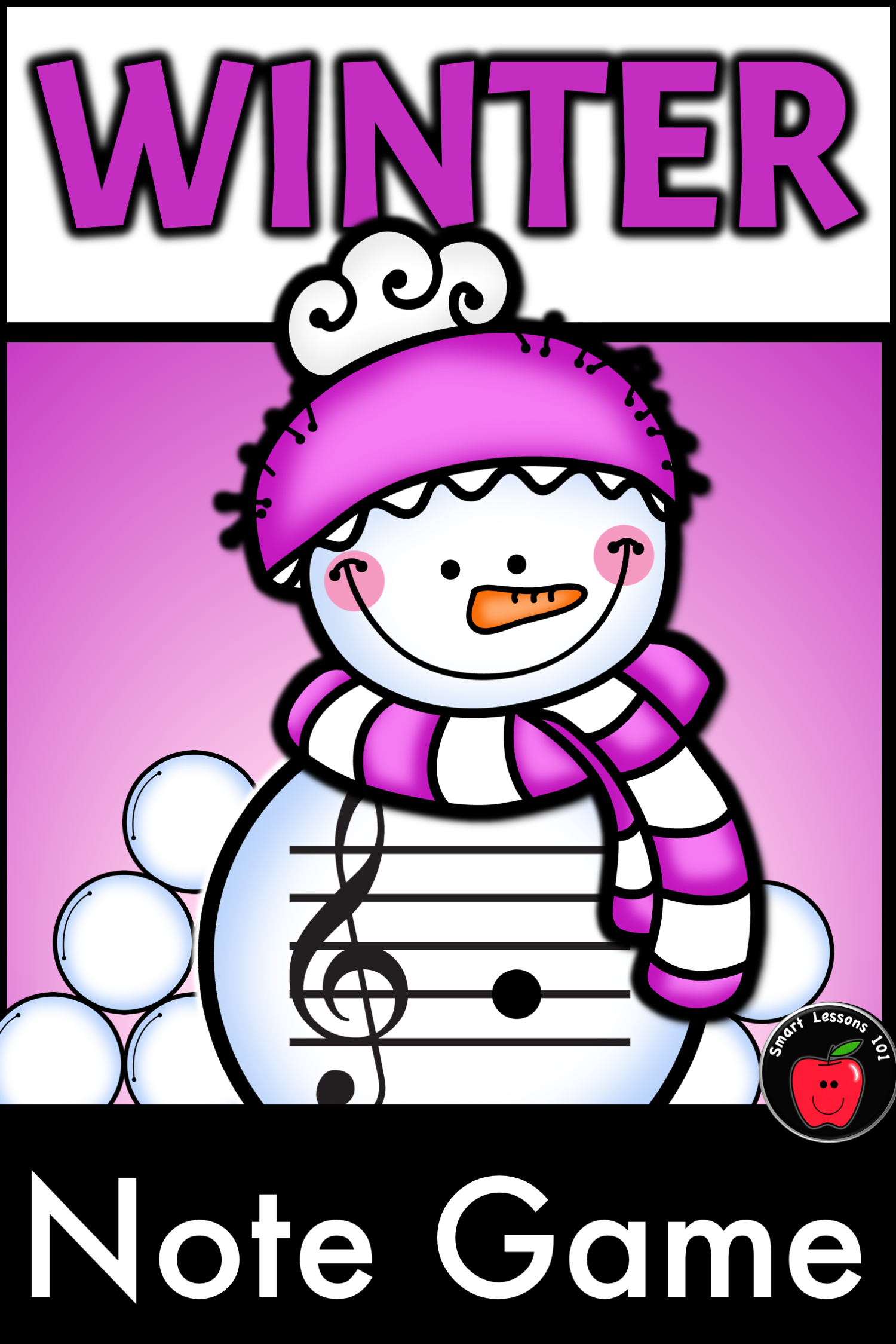 Winter Music Game Activity Winter Treble Note Naming Game