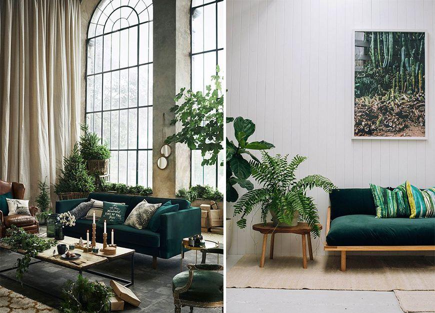 Quelles Couleurs Associer Au Jaune Moutarde Elle Decoration Canape Vert Salon Vert Deco Salon