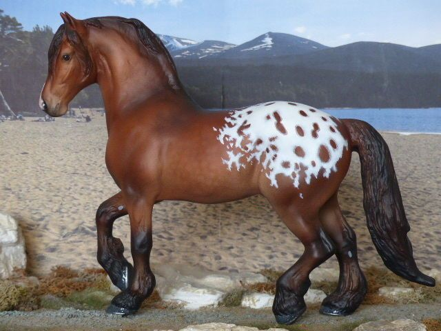 Cm Custom Traditional Breyer Drafter Painted To A Dark