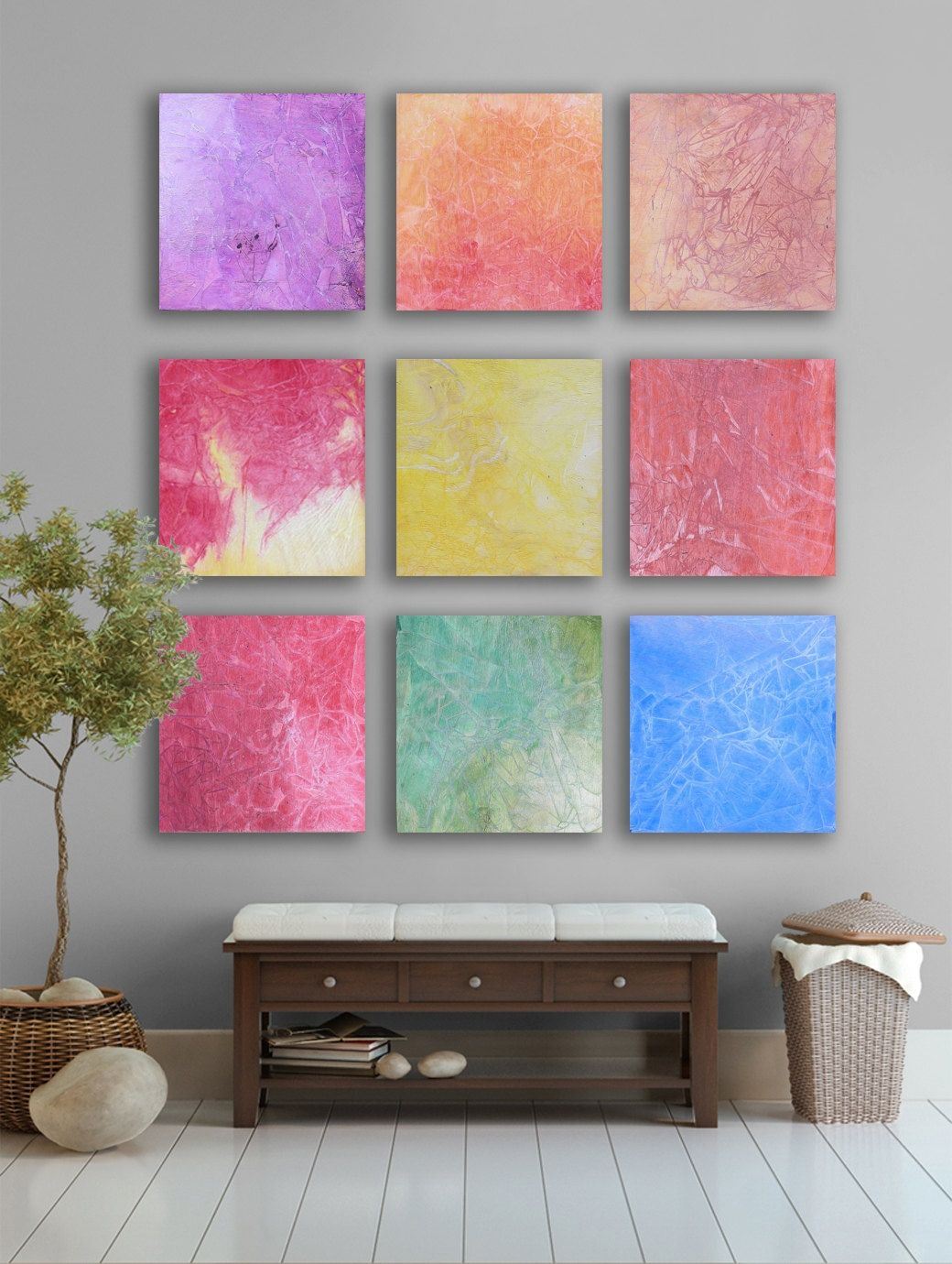 Huge abstract art square custom abstract wall art large abstract
