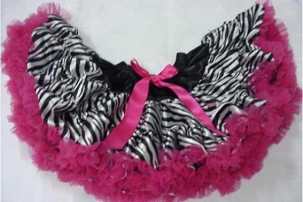 Hot Pink Zebra Petti Skirt