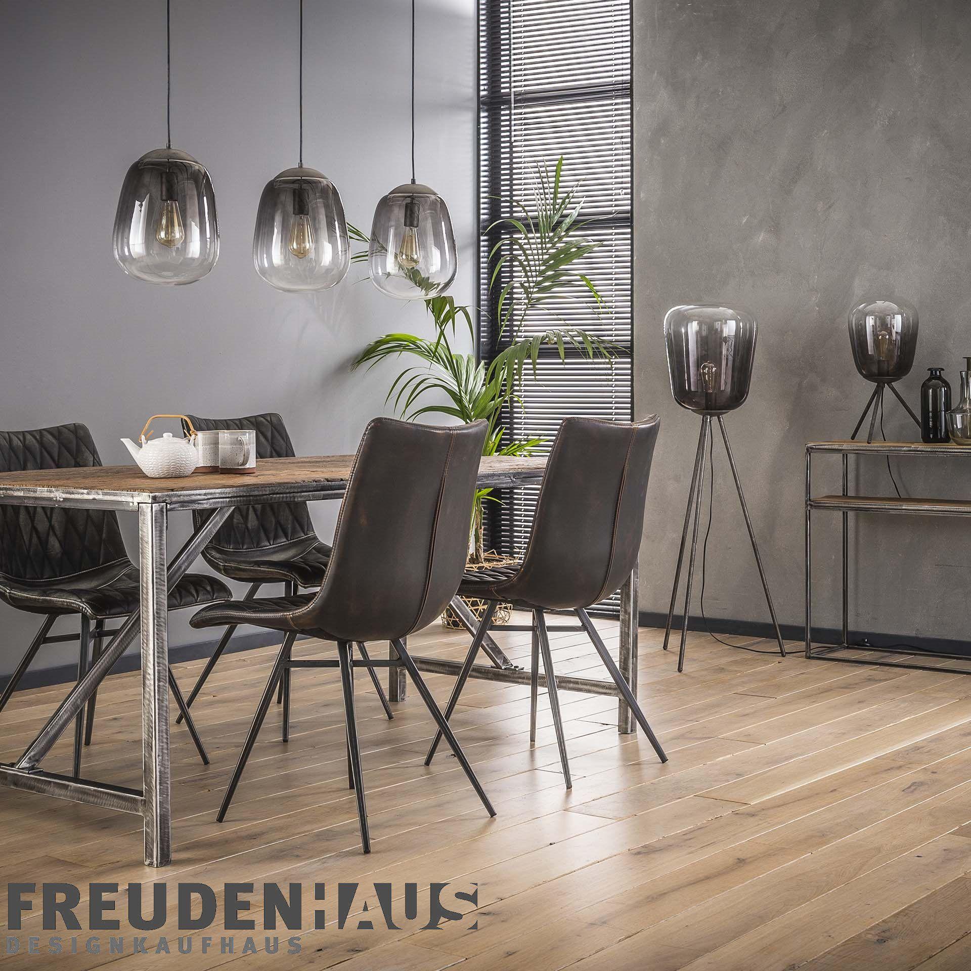 Hangelampe Shaded Bulb 3er Industrial Getontes Rauchglas Altsilber M Beleuchtung Hangelampen Freudenhaus Designkauf Rauchglas Esszimmer Beleuchtung Lampe