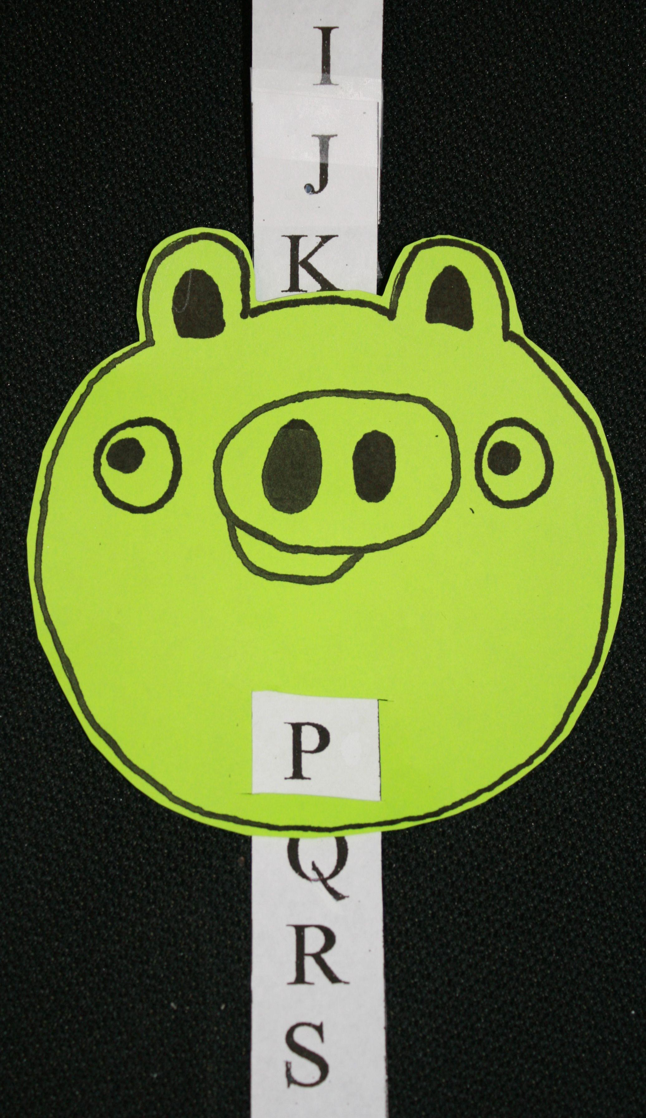 Alphabet Angry Birds Piggy Slider