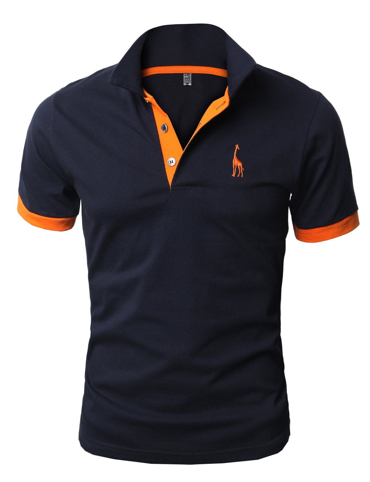 db9ffcf6d59d H2H Mens Fine Cotton Giraffe Polo Shirts of Various Colors NAVY US M Asia  XL (JDSK36)