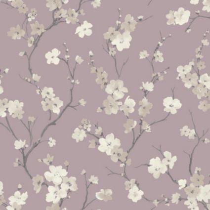 Blossom Wisteria Wallpaper Departments Diy At B Q Glitter Wallpaper Vintage Flowers Wallpaper Vintage Bird Wallpaper