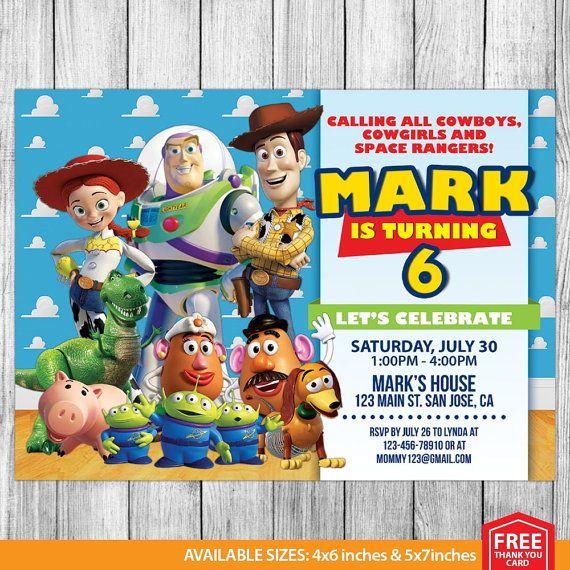 Invitacin de Toy Story Toy Story cumpleaos por MrPartyInvites
