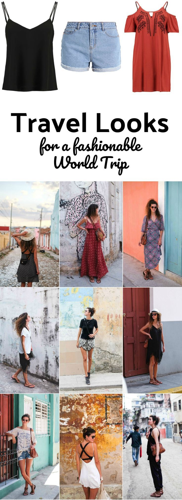 All my World Trip Travel Outfits & Packing List