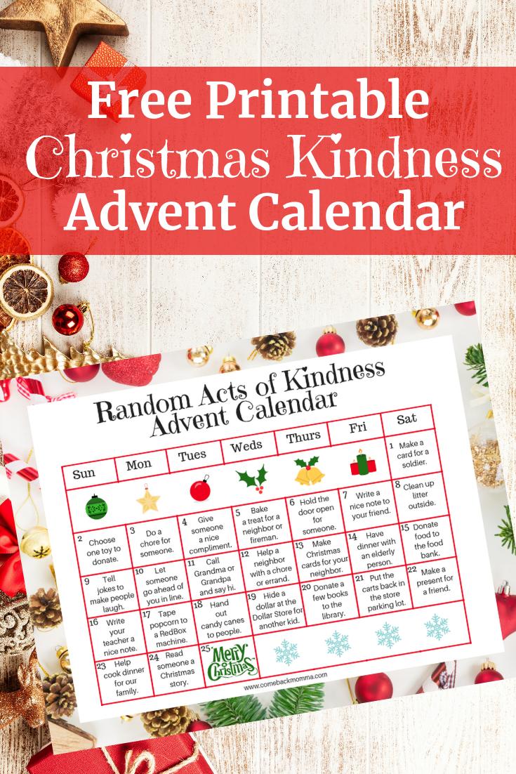 Random Acts of Christmas Kindness Advent Calendar | Mom Life ...