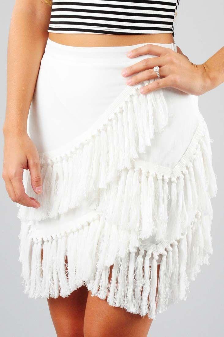 Take Me To Cabo Skirt: White #shophopes
