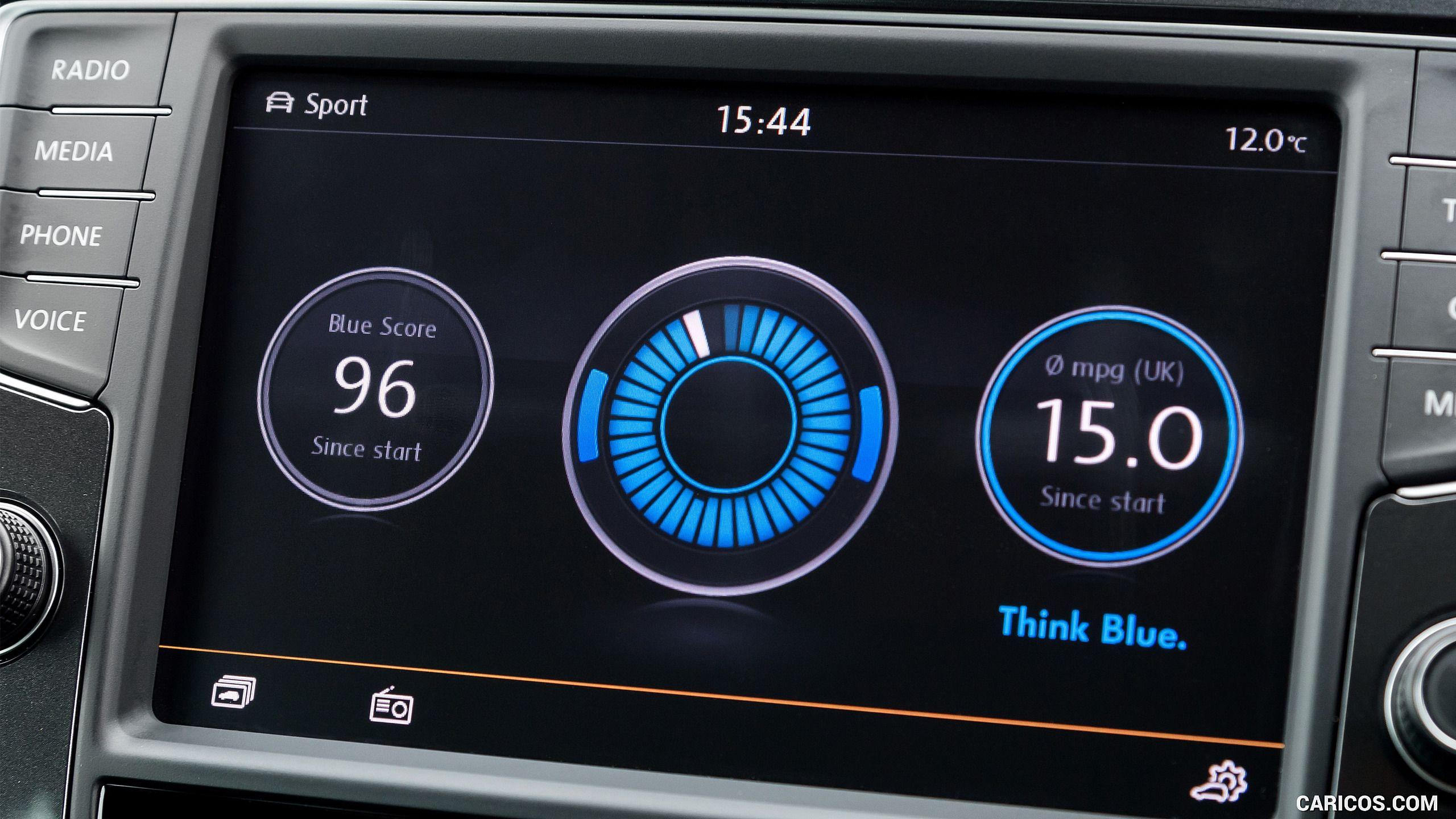 VW think Blue. Efficiency stats(이미지 포함) 유저 인터페이스, 자동차