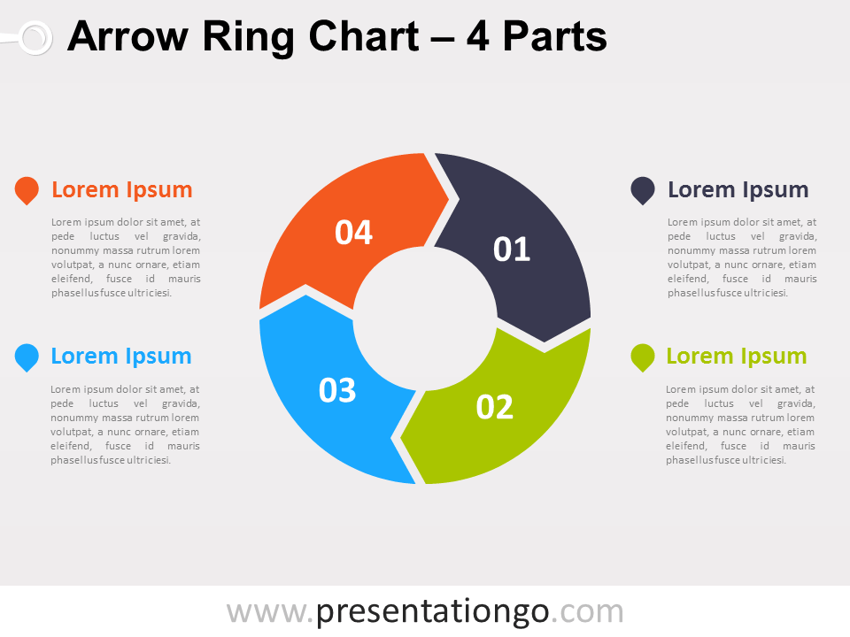 4 parts arrow ring powerpoint chart presentationgo template 4 parts arrow ring powerpoint chart presentationgo ccuart Gallery