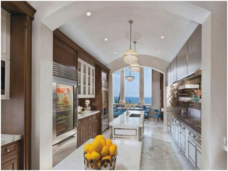Beautiful Large Galley Kitchen With Island Org   Kitchen Decoration ...