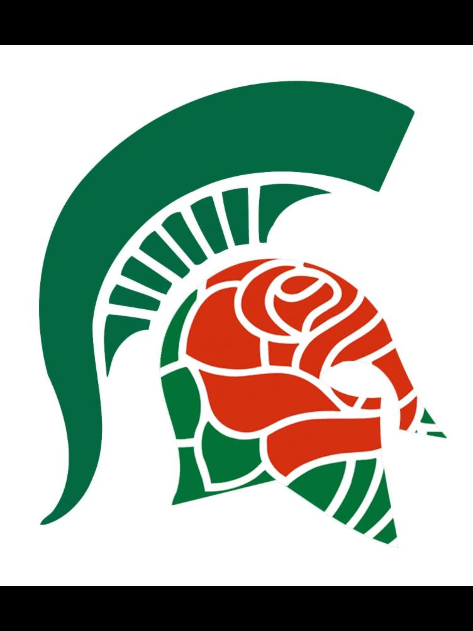 Spartan Rose Bowl Helmet Logo Michigan State Football Michigan State Spartans Michigan State