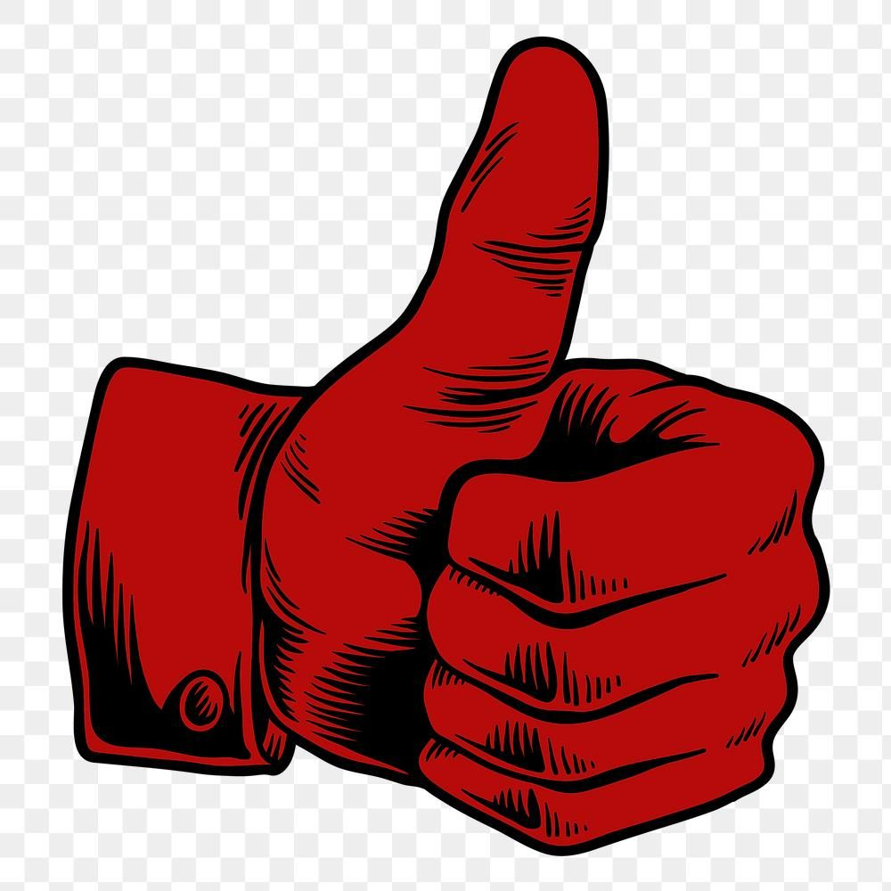 Red Thumbs Up Sticker Design Element Free Image By Rawpixel Com Tvzsu Sticker Design Design Element Free Illustrations