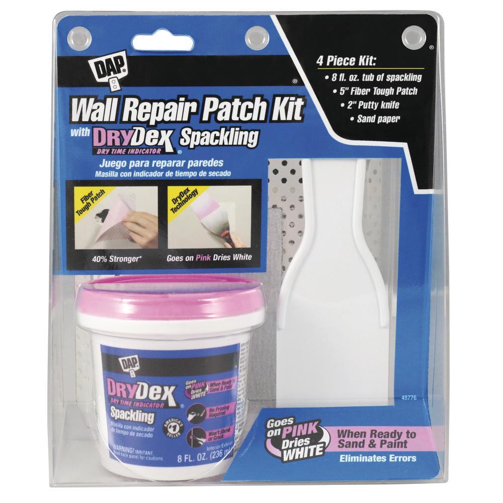 Dap Drydex 8 Oz Wall Repair Patch Kit 12345 Drywall Repair