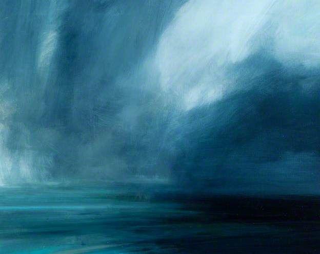 Rain Showers Crossing North Sea