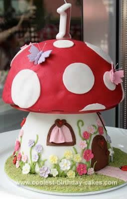 Homemade Mushroom Cake Fairy Party Pinterest