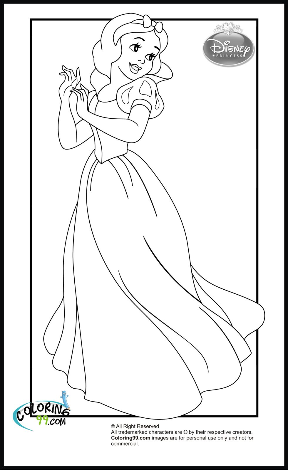 disney princess snow white coloring pages | (AAA) Coloring Pages ...